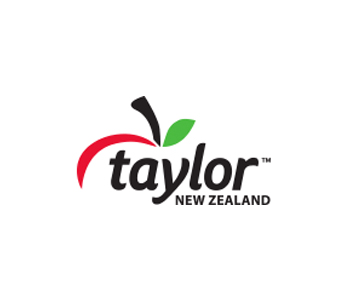 Taylor New Zealand apples logo
